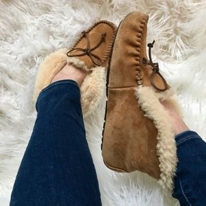 UGG Alena Moccasin Chestnut Tan Womens Slippers 9